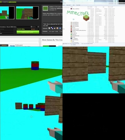 minecraft flash game 3d